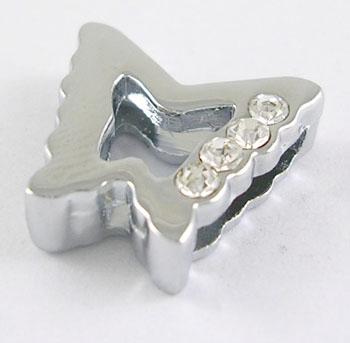 Slide perler sommerfugl Platinfarve 5 stk