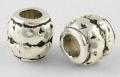 Tibetanske sølv perler
