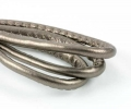 Randsyet imiteret lammeskind 7x6 mm antik sølv