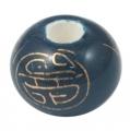 Porcelæns perler håndlavede 12x9 mm blå