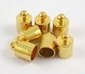 Enderør med øje 6x9,5 mm guld farve