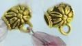 Tibetanske sølv perler guldfarvet med loop 10 stk