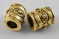Tibetanske sølv perler golden