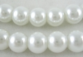 Glasperler 10 mm hvid
