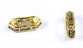 Rhinsten rektangel m.2 huller, guld farve