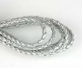 Imiteret lædersnøre sølv 3 mm