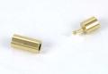 Smykkelås til snørre 5,3 mm Guld