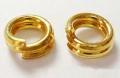 O-ring dobbelt 3,8 mm hul Guld farvet 50 stk