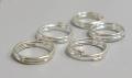 O-ring dobbelt 5,7 mm hul Sølv farvet 50 stk