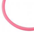 Gummisnøre 4 mm hul pink